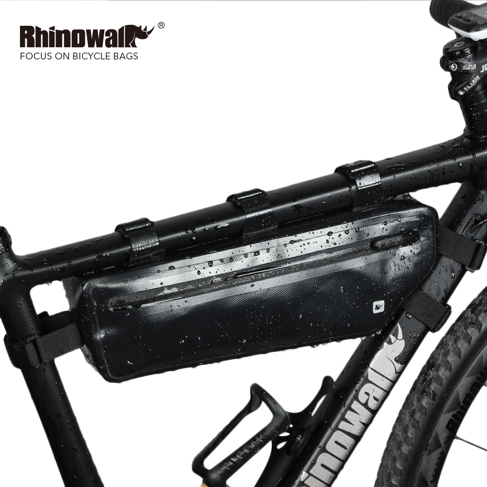 Bike Black Bag Waterproof Triangle Cycling Bicycle Bags Front Tube Frame Package
