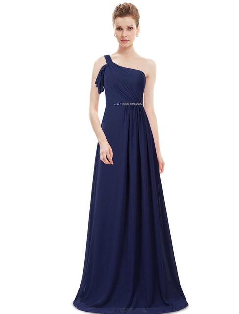 Ever Pretty 2017 Clearance Style Evening Dress Vintage Elegant Dress One-Shoulder Floor-Length Evening Dresses XXBN81580EHA