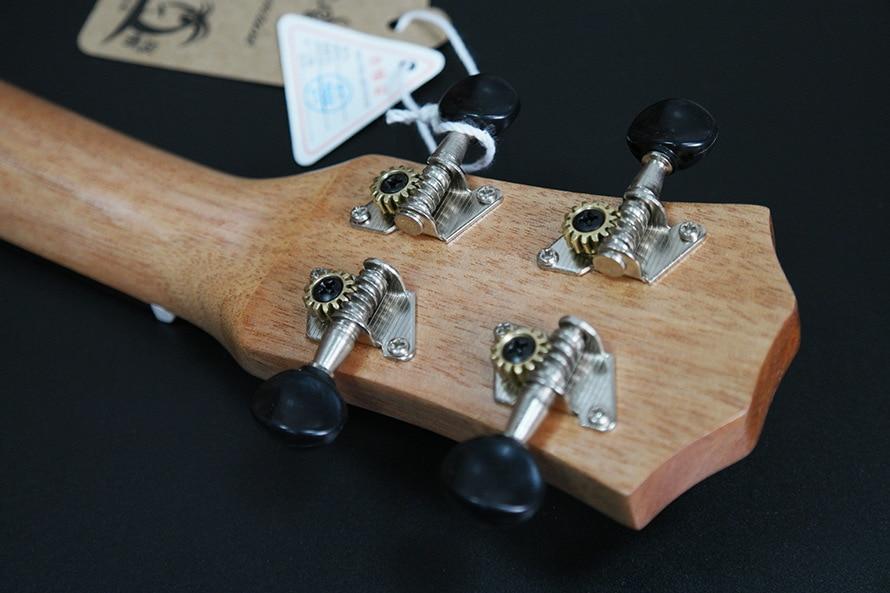 SevenAngel acoustique électrique ukulélé 23 pouces hawaïen Mini guitare 4 cordes Ukelele sapele étoile lune partten avec pick-up EQ - 4