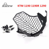 Motorcycle for KTM 1190 1190R 1290 Super Adventure Front Lamp Headlight Guard Protector Cover Stainless Steel