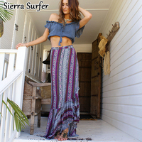 Kaftan Beach Wear Cover Up Tunic Dress Women S Beachwear Summer Long Stand Bohemia Split Skirt