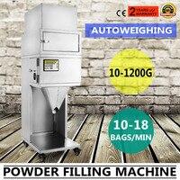 10-1200g de Pó de Enchimento Máquina de Enchimento de Enchimento De Partículas 10-18 Bags/M Vibratório controle Do Microcomputador auto-energia ajustável