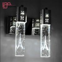 Modern crystal wall lamp lustre de cristal light for home decoration LED light fixtures