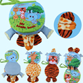 Animal 3D Multi-function infant Early Development Toy Hand Puppets Cloth Book Farms/Forests Animal WJ319