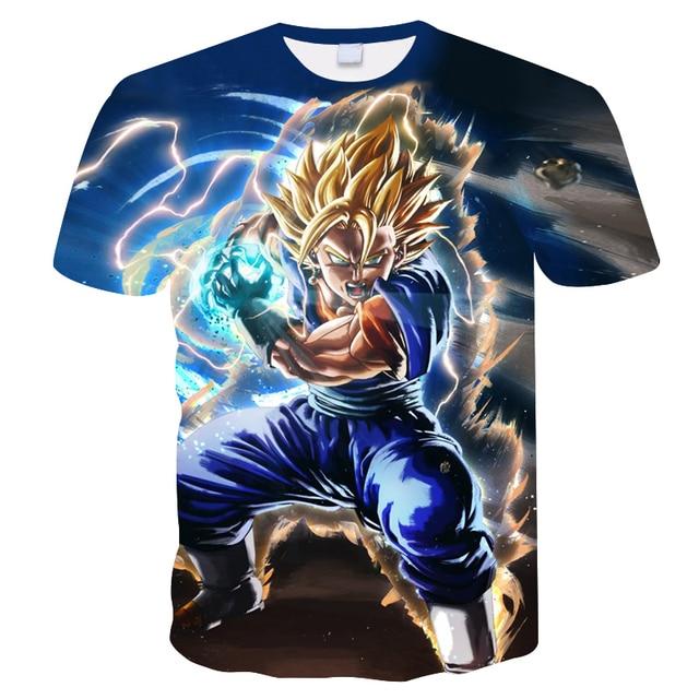 2018 Summer Men T Shirt Dragon Ball Z Ultra Instinct Son