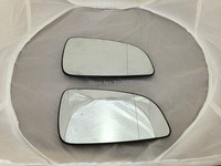 Right side wing mirror glass heated with plastic plate for VAUXHALL ASTRA H 2004 RH side ASPHERIC mirror glass