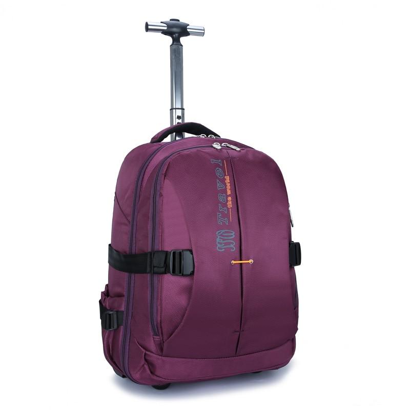 wenjie bror ny stor kapacitet rullandeBackpack Bag affärs män och - Väskor för bagage och resor - Foto 3