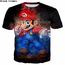PLstar Cosmos Cartoon style Super Mario new T-shirt 3D print Shirt O-Neck Short Sleeve T Shirt Plus size S-5XL drop shipping water drop 3d print t shirt