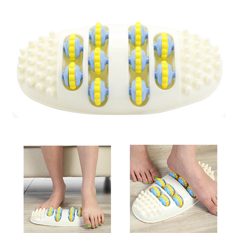 Roller Wheel Feet Massager Foot Acupuncture Point Massage Roller Health Massage Mat Relax Superhard Foot Massager Relieve Fatigu