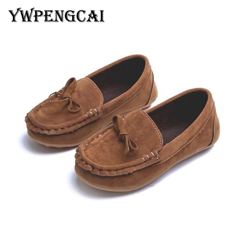All Seasons Children Shoes PU Leather Girls Shoes Casual Mocassins Kids Shoes Slip On Boys Loafers Soft Sole Baby Shoes