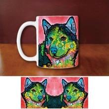 Funny Dog Creative Animal White Ceramic Mug Custom Birthday Gift For Family Friends