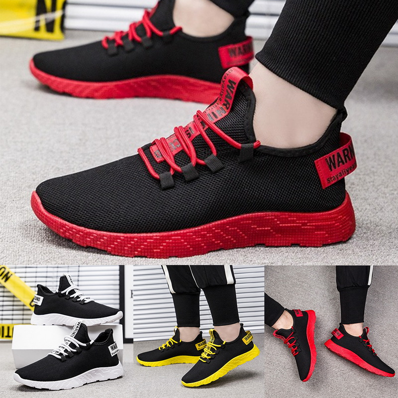 Sfit 2019 Men Casual Sneakers Mesh Breathable Non-slip Vulcanize Shoes Male Air Mesh Lace Up Wear-resistant Sports Running Shoes