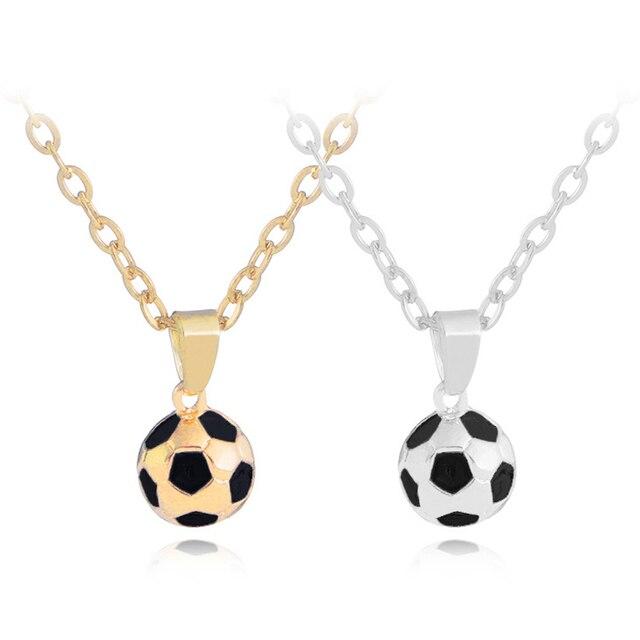 Deportivo collar de colgante con cadena de collar de oro/plata Color hombres/mujeres deporte bola de la joyería