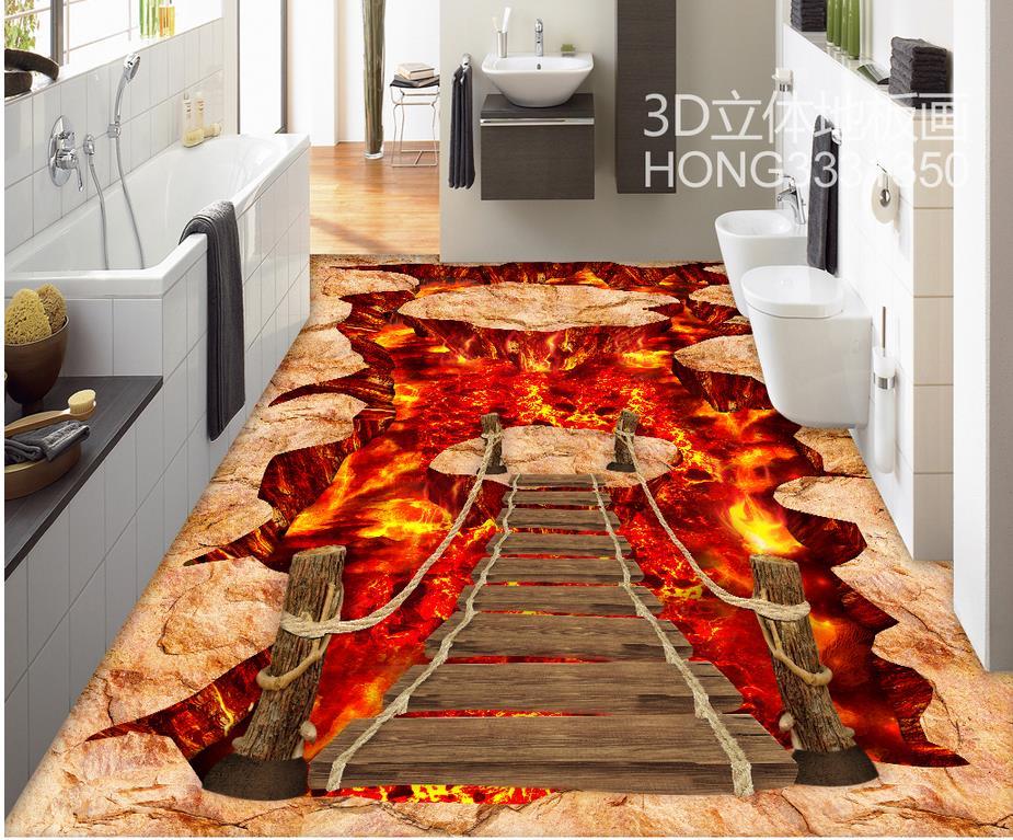 Photo wallpaper mural floor 3D wall murals wallpaper floor Custom Photo self-adhesive 3D floor Home Decoration beibehang custom photo floor painted