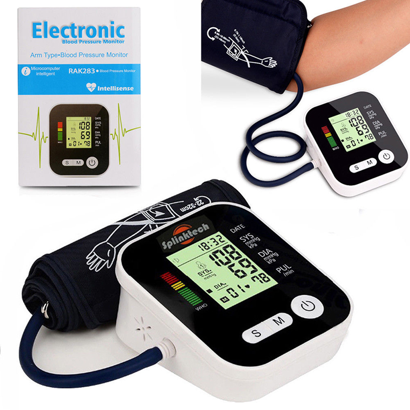 1pcs Digital Lcd Upper Arm Blood Pressure Monitor Heart Beat Meter Machine Tonometer For Measuring Automatic Home Health Care home health care 1pcs digital lcd upper arm blood pressure monitor heart beat meter machine tonometer for measuring automatic