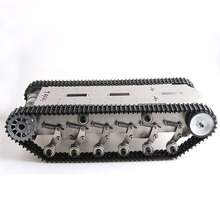 цена на rc metal tank chassis RX-600 flexible damping golden robot tracked vehicle chassis off-road crawler Caterpillar Mobile Plaform