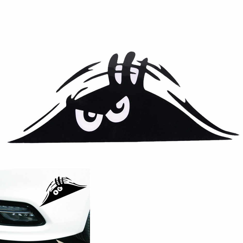 Schwarz/Weiß Spähen Monster Auto Auto Wände Fenster Aufkleber Grafik Vinyl Auto Aufkleber