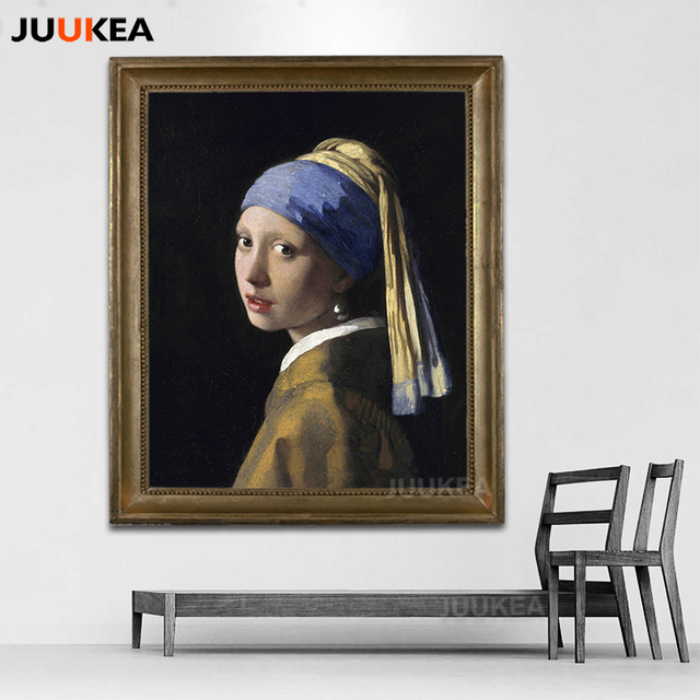 cd2b88884a5 Girl With A Pearl Earring By Johannes Vermeer Classic Oil Painting Print On  Canvas
