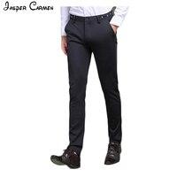 2017 New Spring Men Brand Dark Blue Pants Slim Top Quality Trousers Cotton Casual Modern Pantalones