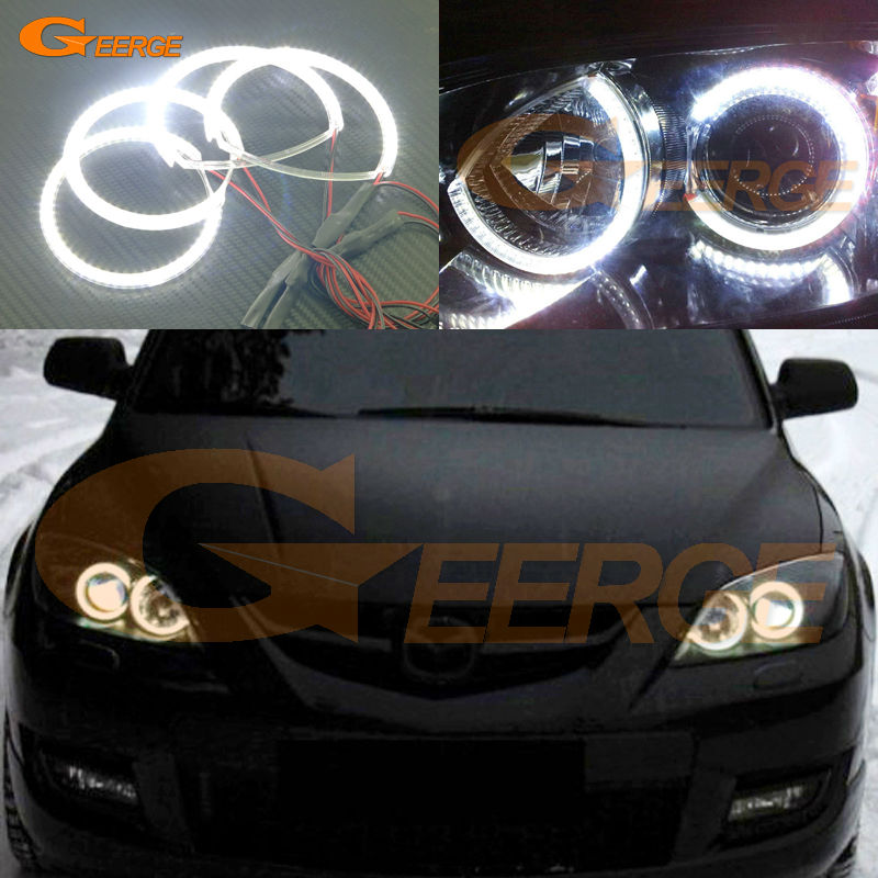 For MAZDA SPEED 3 2007 2008 2009 Excellent led angel eyes Ultra bright illumination smd led Angel Eyes Halo Ring kit