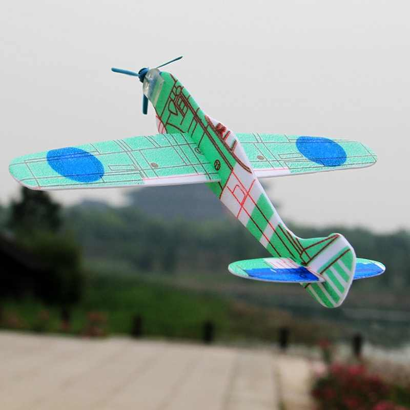 Children Kids Toys 12Pcs DIY Airplane Models Safe Hand Throw Flying Glider Planes Foam Fillers Hot Sale Drop Shipping
