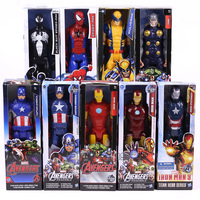 Marvel Titan Hero Series Captain America Thor Iron Man Spiderman Logan Iron Patriot PVC Action Figure