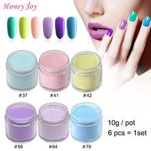 6pcs/set 10g/Box Very Fine Autumn Spring Colors Dipping Powder No Lamp Cure Nails Dip Powder Gel Nail Salon Effect Natural Dry