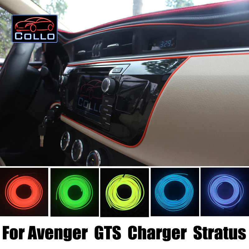 9m el wire for dodge avenger gts charger stratus car interior romantic atmosphere lamp. Black Bedroom Furniture Sets. Home Design Ideas