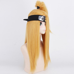 Image 3 - Naruto Akactuki pelucas de Cosplay para hombre, peluca larga de cosplay para halloween, pelucas doradas peluca para disfraz