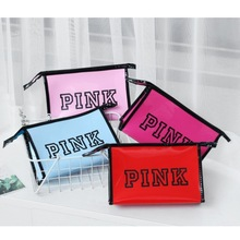 PVC Holographic Transparent Clear Cosmetic Bag Letter Zipper Makeup Bag Waterproof Travel Organizer Bag Toiletry Kits Case