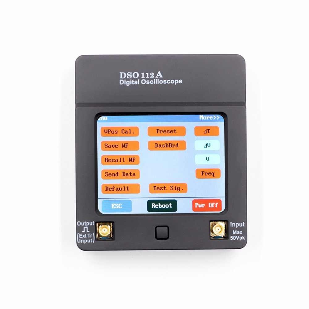 Draagbare Opladen TFT Mini Digitale Oscilloscoop USB Touch Screen Oscilloscoop Interface 2 MHz 5 Msps