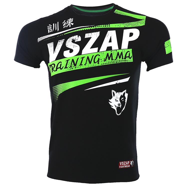 VSZAP MMA Clothing  Shirt Gym Rashguard Fitness T Shirt Men Base Layer Skin Tight Weight Lifting Muay Thai Tee Shirt