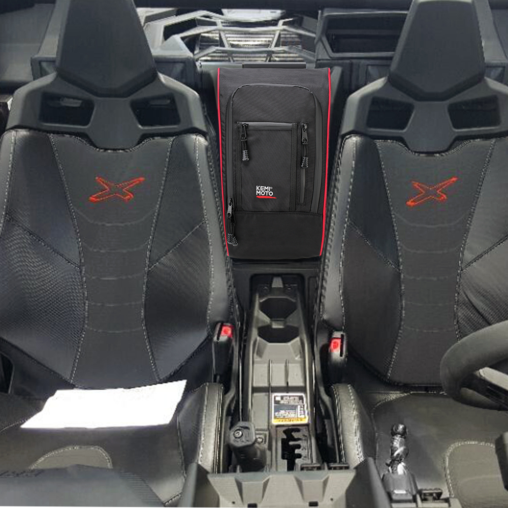 KEMiMOTO Marverick X3 Between Seats 1680D Waterproof Center Console Storage Bag for Can am Maverick X3 2017 2018 2019KEMiMOTO Marverick X3 Between Seats 1680D Waterproof Center Console Storage Bag for Can am Maverick X3 2017 2018 2019