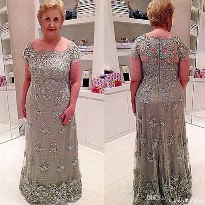 80914648eed Lace Appliqued Beads Wedding Guest vestido novia Plus Size Long Mother s  Elegant evening gown lace Mother