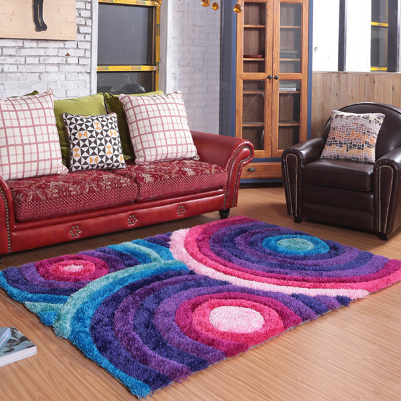 European And American Pastoral Style Carpet Thick Mat In Various Colors Living Room Custom