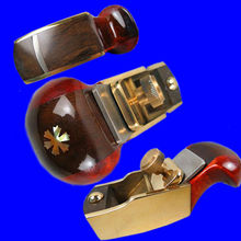 Excellent Thumb brass+maple+blackwood convex bottom plane 79mm violin making woodworking luthiertools craft plane