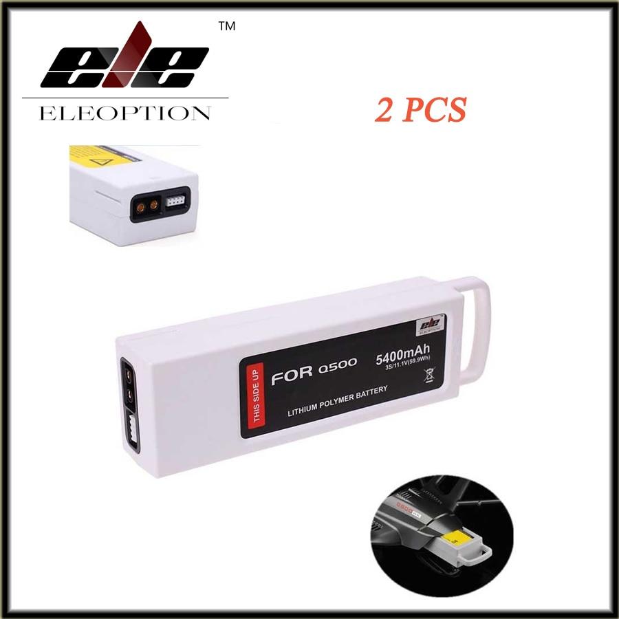 ELEOPTION 2 PCS New 5400mAh 11.1 Volt Lipo Battery For Yuneec Q500 Series RC Drone 11.1V 3S / 3-Cell High Quality high quality eleoption 2 pcs 12v 2 0ah battery for dewalt dc9071 dw9071 dw9072 dw953 dw965 dw972 cordless free shipping
