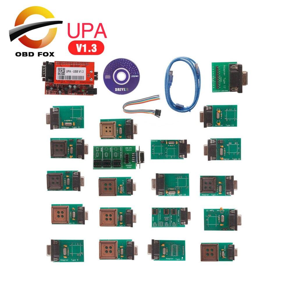Prix pour 2017 Nouveau UPA Programmeur USB Full Adaptateurs UPA-usb V1.3 ecu chip tuning outil Haute qualité upa programador shiping libre