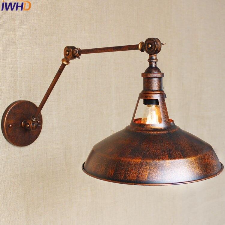 Loft Industrial Wall Sconce Lighting Fixtures Creative Lid Wall Light LED E27 Lamp retro Iron wall lamp Edison Bulb Lights 220v