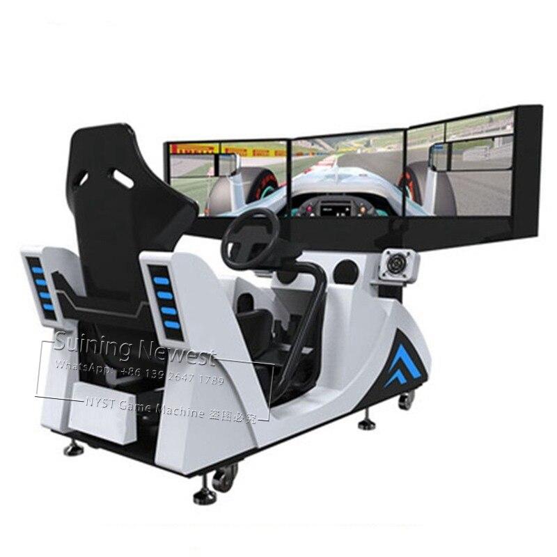 NYST 3 экран парк развлечений устройства оборудование для ярмарок Simulator Drive гоночный автомобиль аркадная игра машина для подростков взрослых