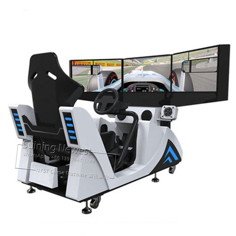 NYST 3 Screen Amusement Park Device Fairground Equipment Simulator Drive Car Racing Arcade Game Machine For Teenagers Adults