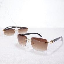 Buffalo Horn Glasses for Men Carter Sunglasses Male Sun Fishing Driving Luxury Red Shade