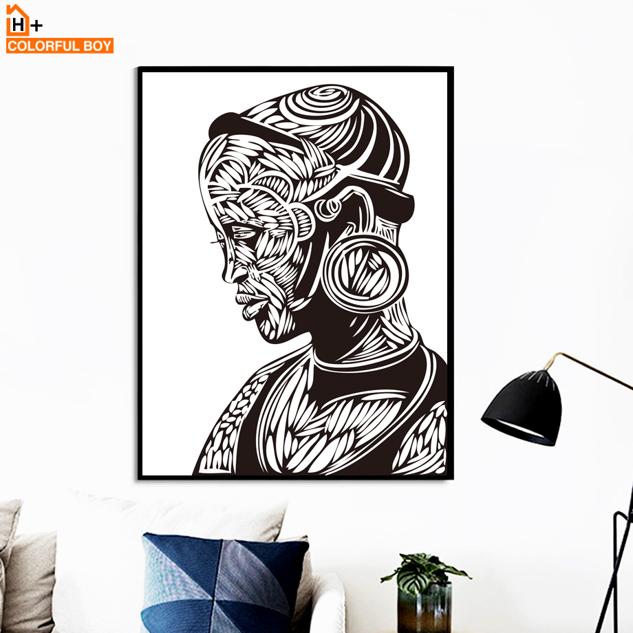 Abstract African Art Black And White