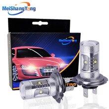 лучшая цена 1 pair hid led white h7 30w car external lights cree chip fog lamp XBD 6000k Car Fog Light Auto Running Light Bulb