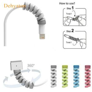 Cable-Protector Case-Cover Earphone Silicone Spiral Bobbin-Winder Data-Line Usb-Charging