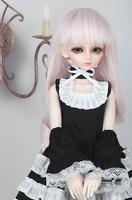 Muñecas Peluca para 1/4 Muñeca de BJD SD rosa pelo