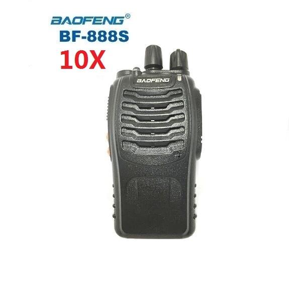 10 pcs baofeng bf 888s walkie talkie bf 888s uhf400 470mhz hamportatilcb radio comunicador baofeng 888