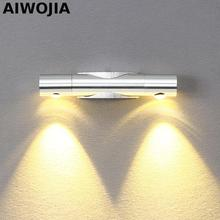 6W Led wall lamp 2x3W Epistar chip spot led light modern home decoration 360 rotation AC85-265V Wall Light Up Down