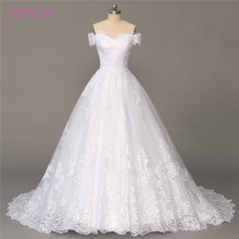 Plus Size Vestido De Noiva 2018 Wedding Dresses Ball Gown Cap Sleeves Tulle Lace Boho Cheap Wedding Gown Bridal Dresses(China)