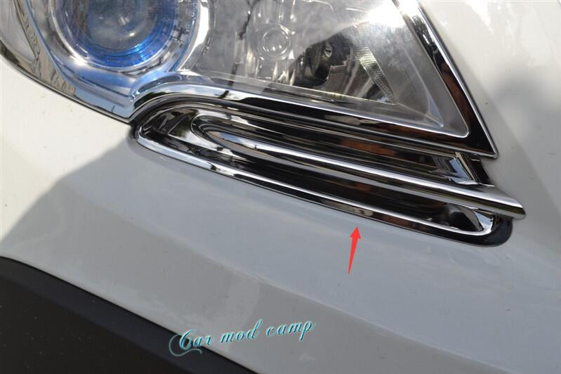 ABS Chrome Front Head Light Eyelid Cover Trim 2pcs For Vauxhall Opel Mokka / Buick Encore 2013 2014 2015 Car Styling! lsrtw2017 304 stainless steel car window trims for opel mokka buick encore bitter mokka 2013 2014 2015 2016 2017 2018 vauxhall